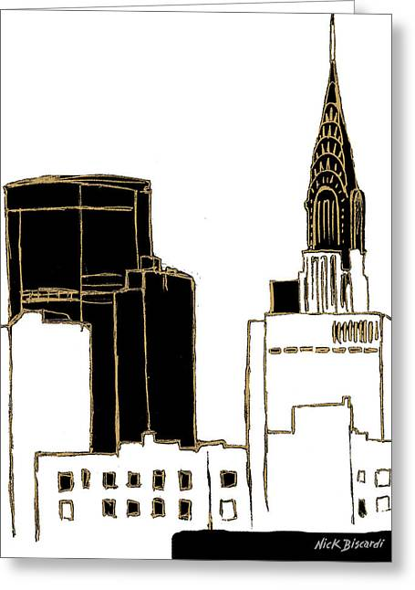Tenement Empire State Building Greeting Card