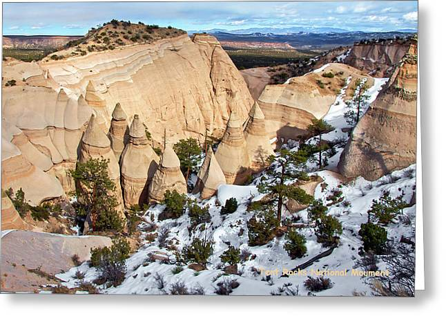 Greeting Card featuring the photograph Tent Rocks National Monument by Britt Runyon