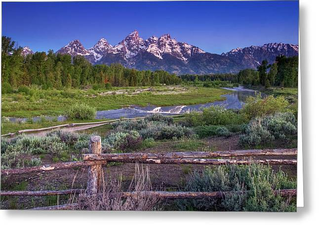 Greeting Card featuring the photograph Teton Countryside by Andrew Soundarajan