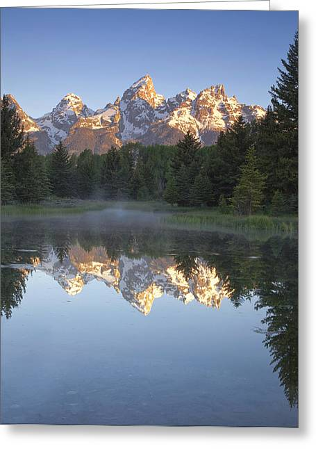 Teton Reflections Greeting Card by Andrew Soundarajan