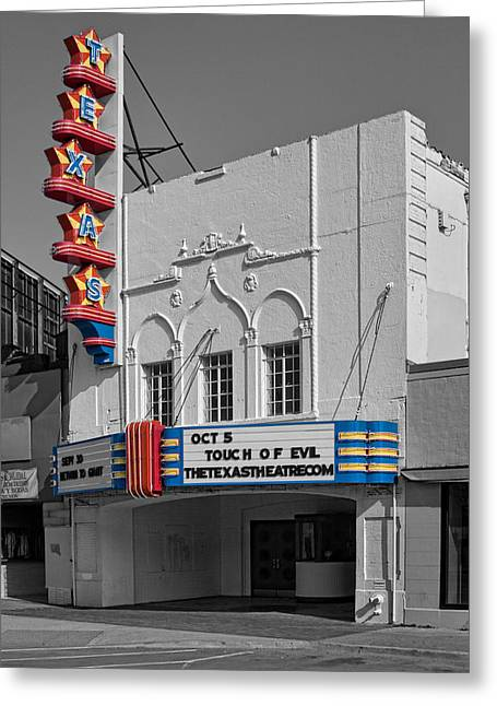 Texas Theater Greeting Card by David and Carol Kelly
