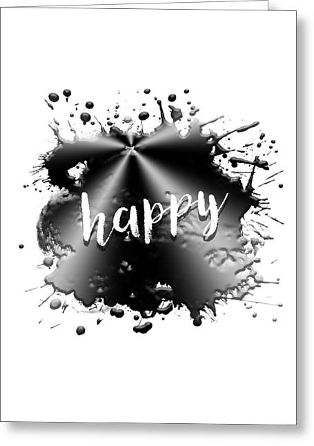 Text Art Happy Greeting Card
