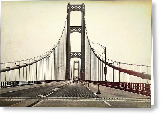 Textured Mackinac Bridge Greeting Card