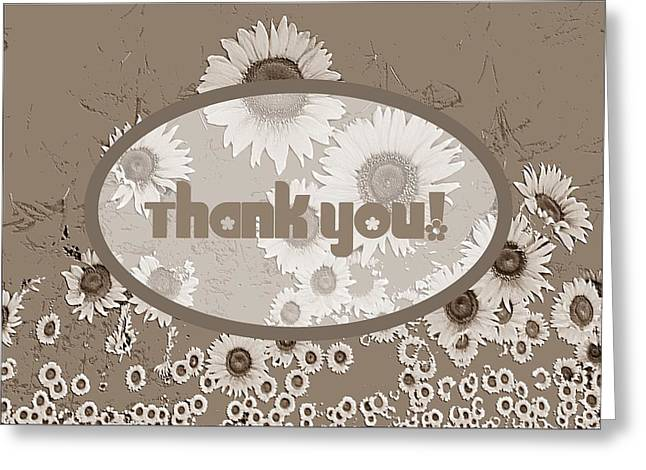 Thank You Card Daisies Greeting Card