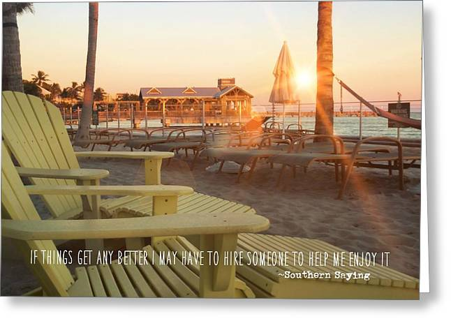 That Morning Light Quote Greeting Card by JAMART Photography