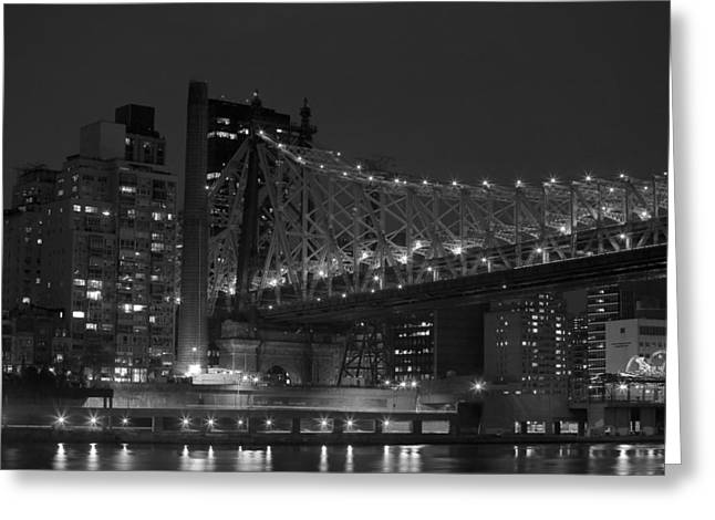Fdr Drive Greeting Cards - The 59th Street Bridge Greeting Card by Andria Patino