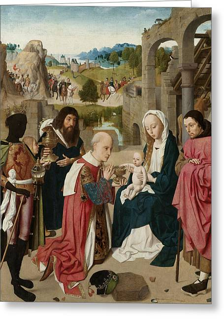 The Adoration Of The Magi Greeting Card by Geertgen tot Sint Jans