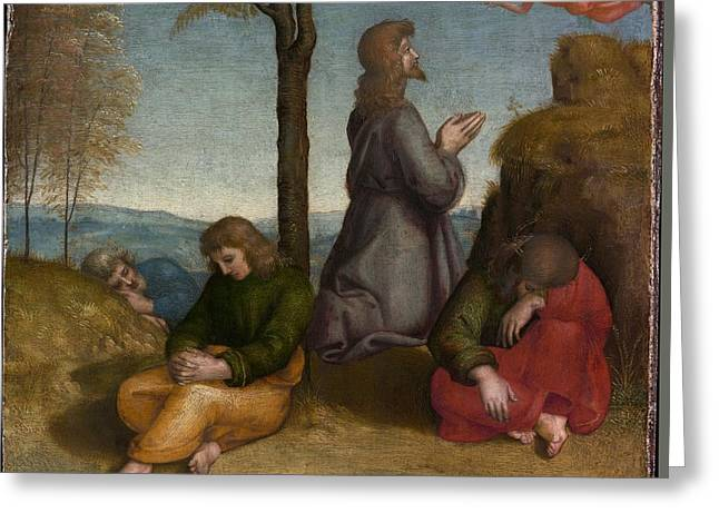 The Agony In The Garden Greeting Card by Raphael