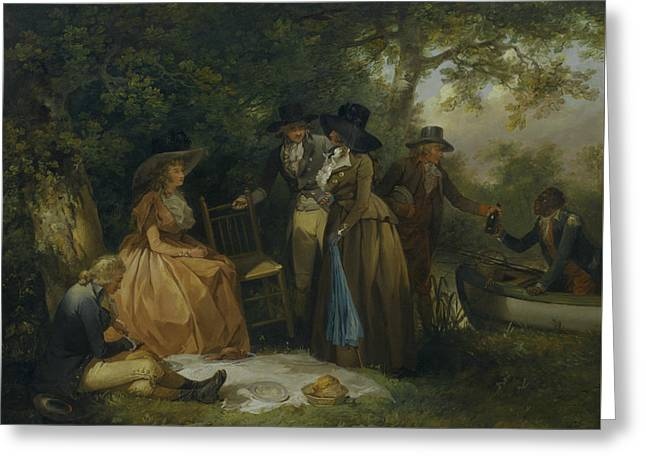 The Anglers' Repast Greeting Card by George Morland