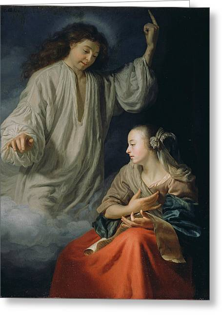The Annunciation Greeting Card by Godfried Schalcken