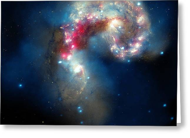 The Antennae Galaxies Greeting Card by American School