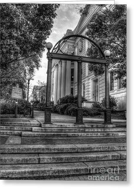 The Arch 5 University Of Georgia Arch Art Greeting Card by Reid Callaway