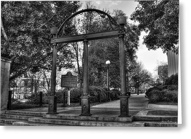 The Arch 6 University Of Georgia Arch Art Greeting Card