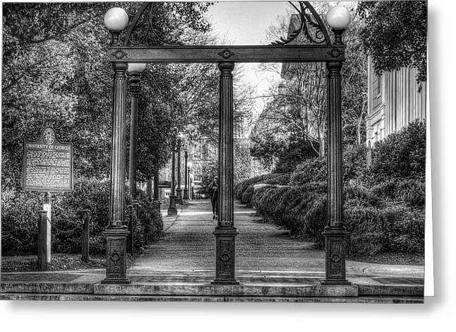 The Arch University Of Georgia Arch Art Greeting Card by Reid Callaway