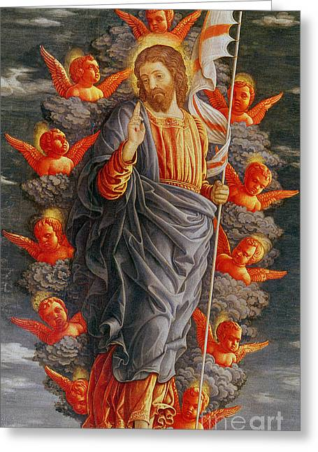 The Ascension Greeting Card by Andrea Mantegna