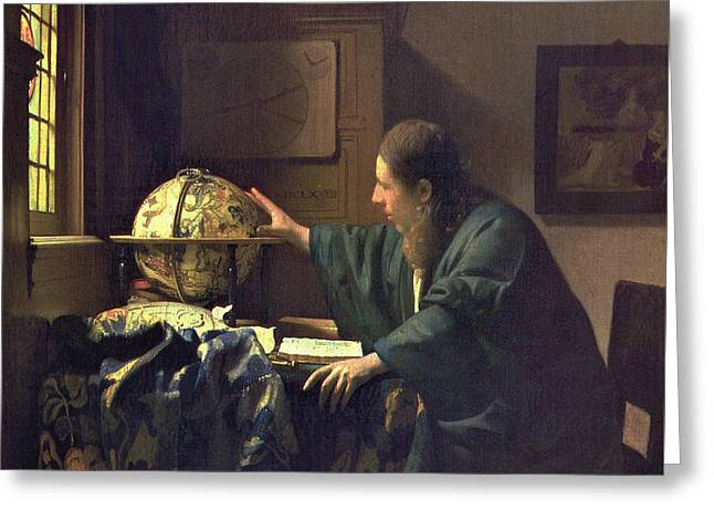 The Astronomer Greeting Card by Jan Vermeer