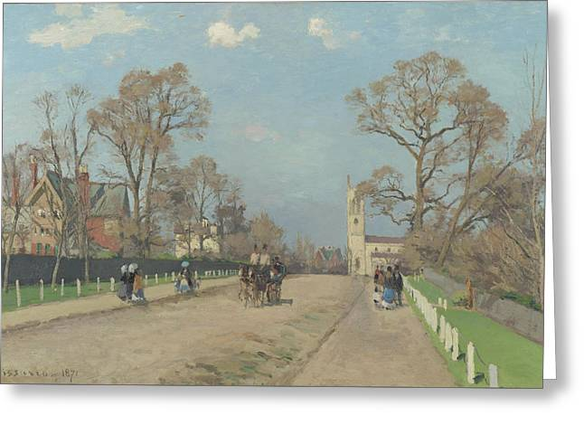 The Avenue Sydenham Greeting Card by Camille Pissarro