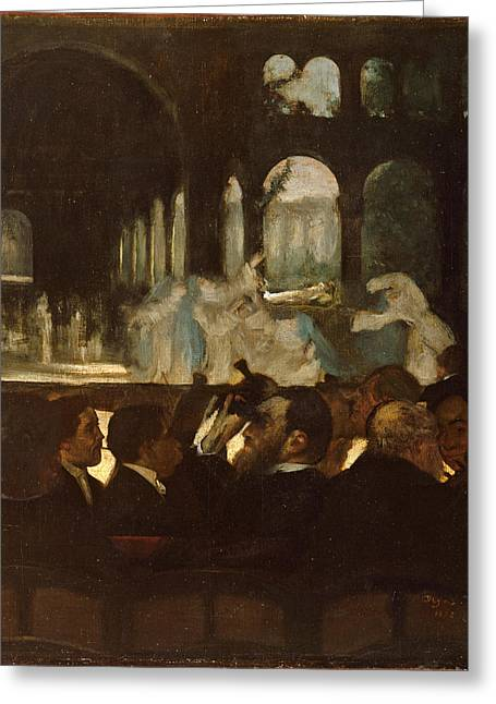 Greeting Card featuring the painting The Ballet From Robert Le Diable by Edgar Degas