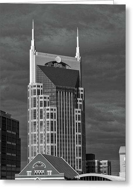 The Batman Building - Nashville Greeting Card by L O C