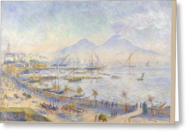 The Bay Of Naples Greeting Card by Auguste Renoir