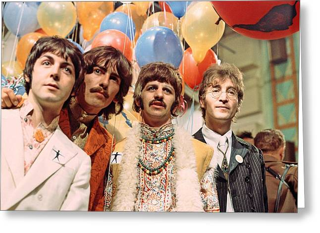 The Beatles Sgt. Pepper Release Party Greeting Card by The Titanic Project