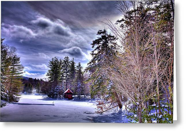 The Beaver Brook Boathouse Greeting Card