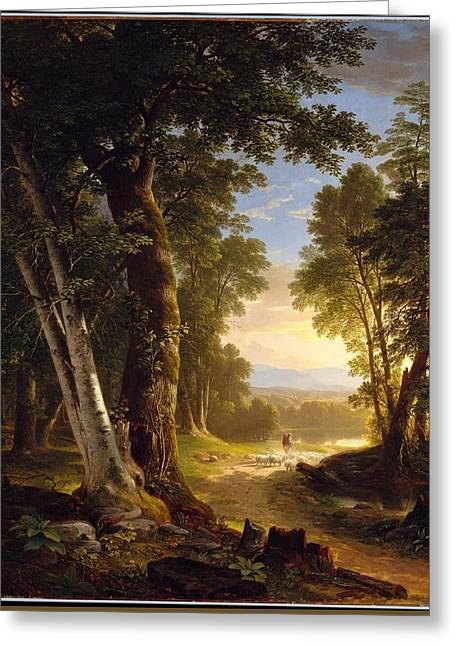 The Beeches Greeting Card by Asher Brown Durand