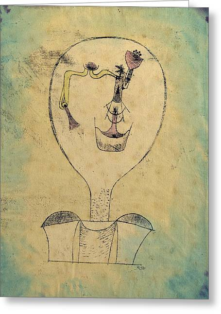 The Beginnings Of A Smile Greeting Card by Paul Klee