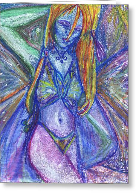 The Belly Dancer Greeting Card by Sarah Crumpler