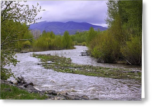 The Big Wood River Greeting Card
