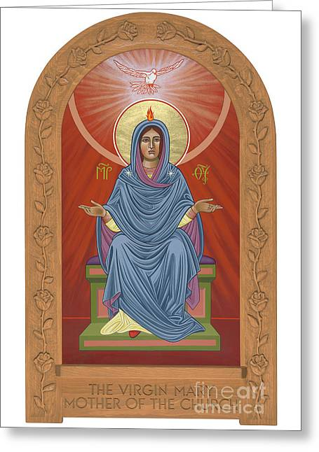 Greeting Card featuring the painting The Blessed Virgin Mary Mother Of The Church by William Hart McNichols