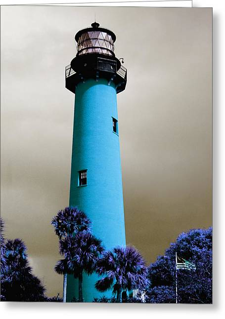 The Blue Lighthouse Greeting Card