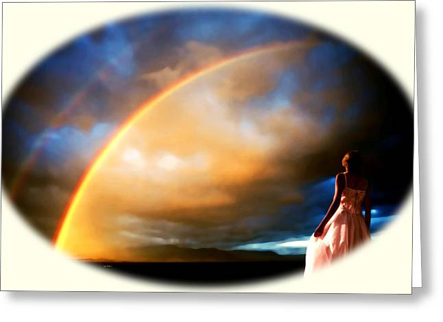 The Brides Rainbow The Omen Greeting Card