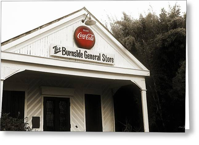 Grocery Store Greeting Cards - The Burnside General Store Greeting Card by Scott Pellegrin