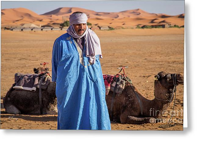 The Camel Driver Up Close And Personal Greeting Card