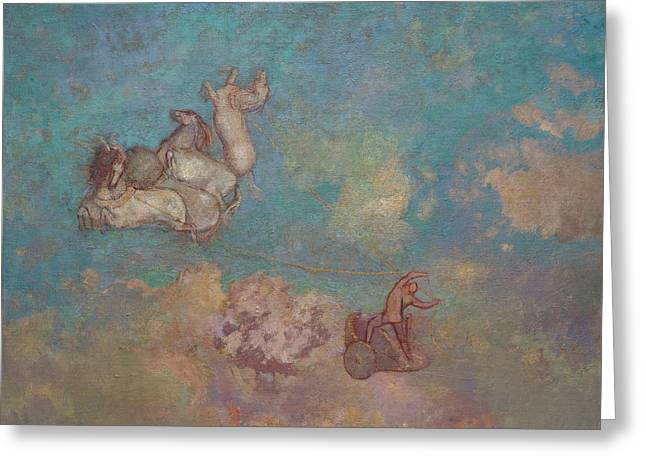 The Chariot Of Apollo Greeting Card by Odilon Redon