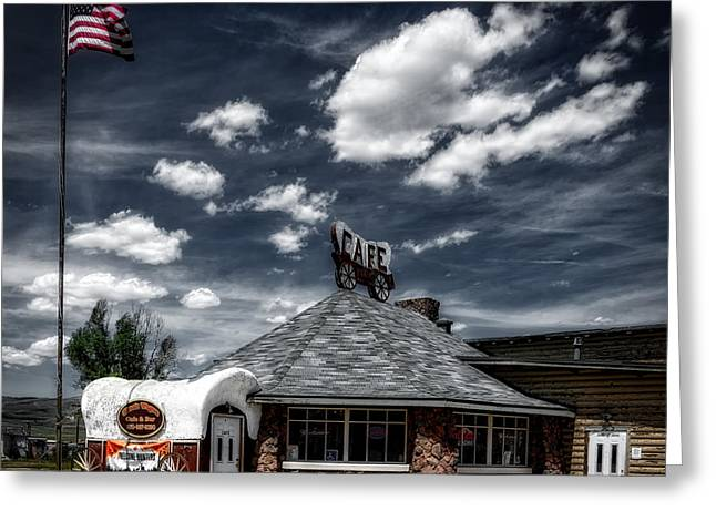 The Chuck Wagon Cafe Greeting Card by Mountain Dreams