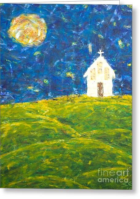 The Church At Newberg Greeting Card