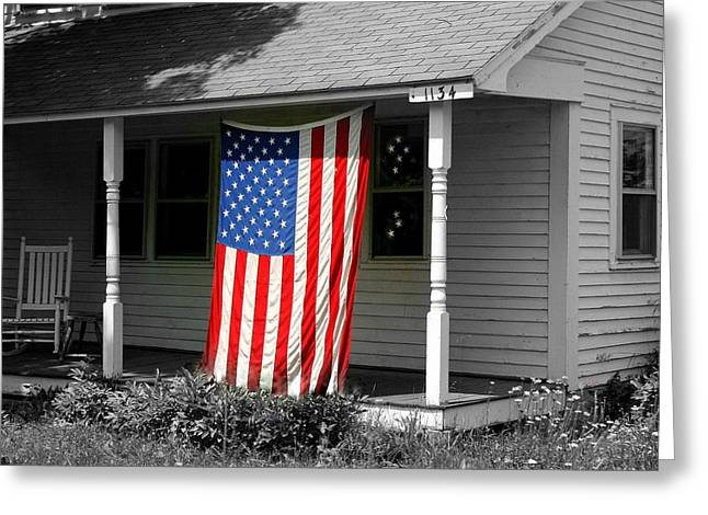 The Colors Of Freedom Greeting Card by Linda Galok