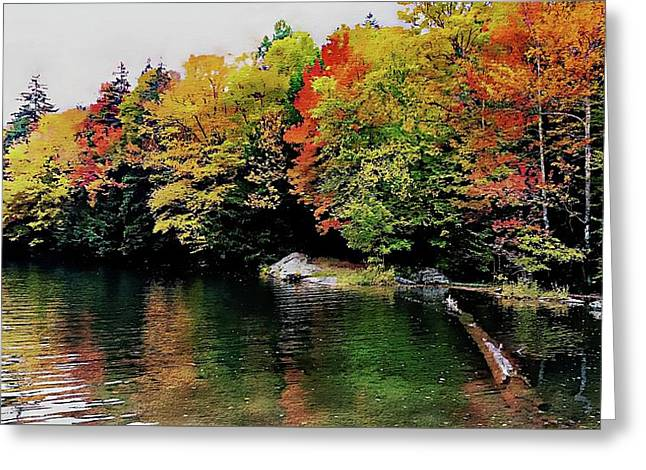 Greeting Card featuring the photograph The Colors Of Lake Raponda - Wilmington, Vermont by Joseph Hendrix