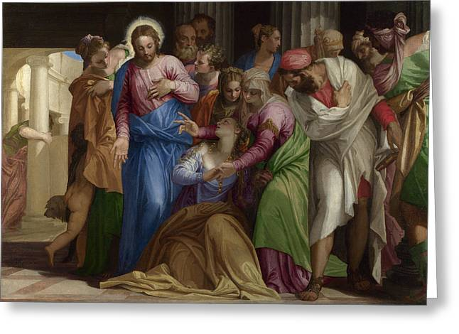 The Conversion Of Mary Magdalene Greeting Card