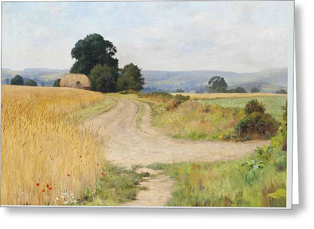The Cornfield Greeting Card by Paul Guigou