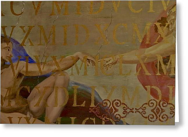 The Creation Of Adam Greeting Cards - The Creation of Adam Revisited Greeting Card by Terry Honstead
