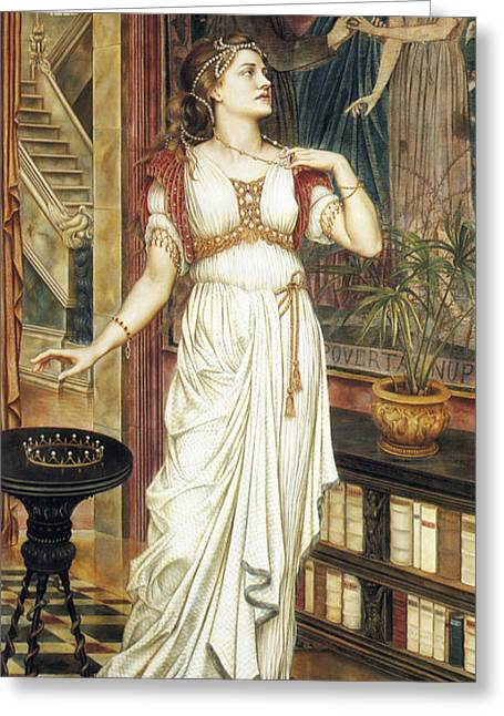 The Crown Of Glory Greeting Card by Evelyn de Morgan