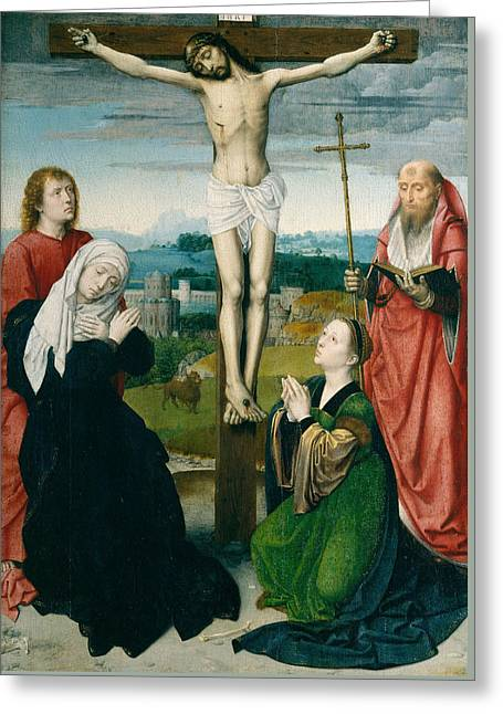 The Crucifixion Greeting Card by Gerard David