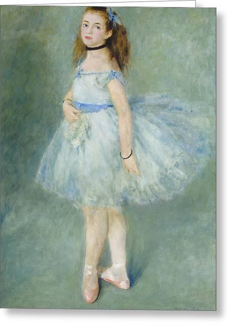 The Dancer Greeting Card by Auguste Renoir