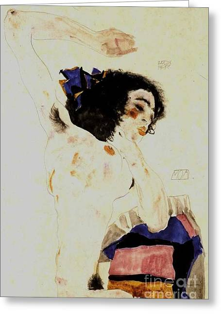 The Dancer Moa Greeting Card by Pg Reproductions
