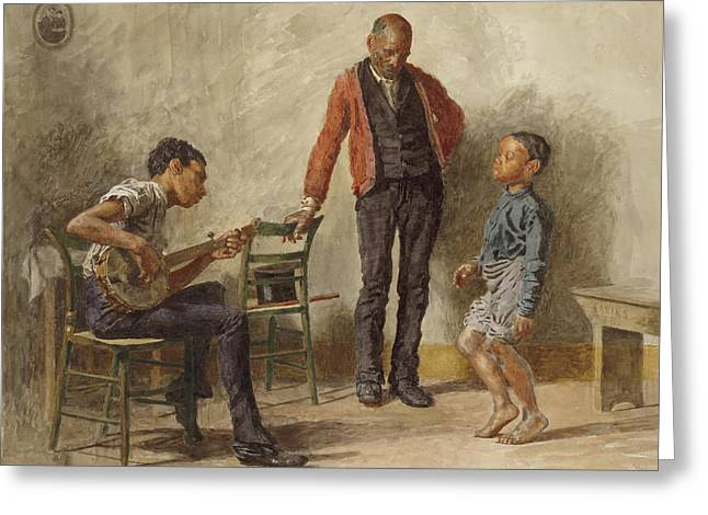 The Dancing Lesson Greeting Card by Thomas Eakins