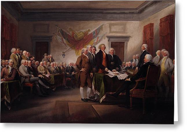 The Declaration Of Independence Greeting Card by Mountain Dreams