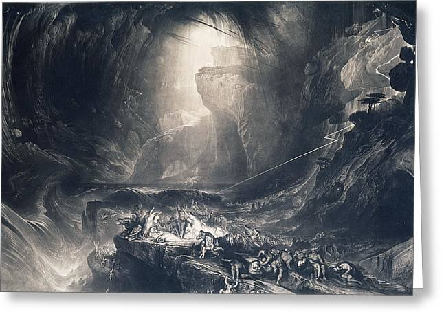 The Deluge Greeting Card by John Martin